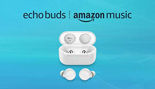 All-new Echo Buds (2nd Gen) and 6 months Amazon Music Unlimited FREE w/ auto-renewal | Glacier White
