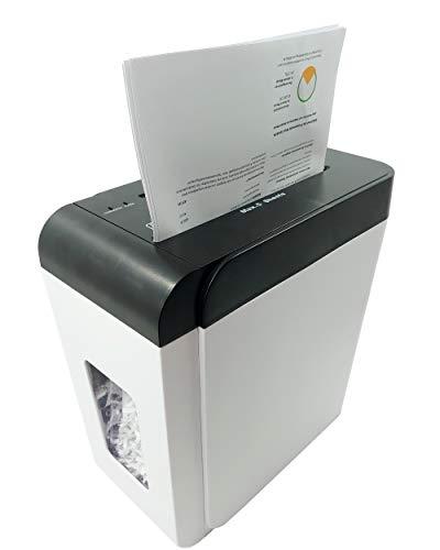 LMG DWS-502DC Premium Aktenvernichter - Flüster Version für eine besonders leise Anwendung - 55 dB - Hochsicherheits Aktenschredder - Sicherheitsstufe P4-5 Blatt - Besonders schnell - Kreuzschnitt