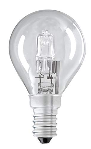 Energiesparlampe, 28 W, G45 (SES), kleine Edison-Schraube (E14), dimmbar, Golfball/Mini-Globe, 28 W = 37 W, 2000 Stunden lange Lebensdauer, Halogen-Leuchtmittel, 205 Lumen, 3 Stück + 1 gratis 2.700 K