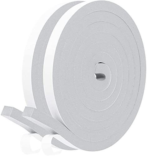 Fowong Adhesive Weather Stripping 12mm(W) x 12mm(T) x 2M(L) Home Window...
