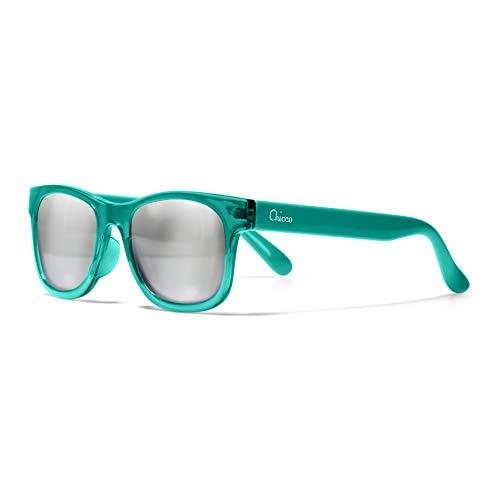 Chicco - Gafas de Sol Infantiles Para Niños De 2 años, Con Montura flexible y Lentes Anti Arañazos, Color Verde Transparente