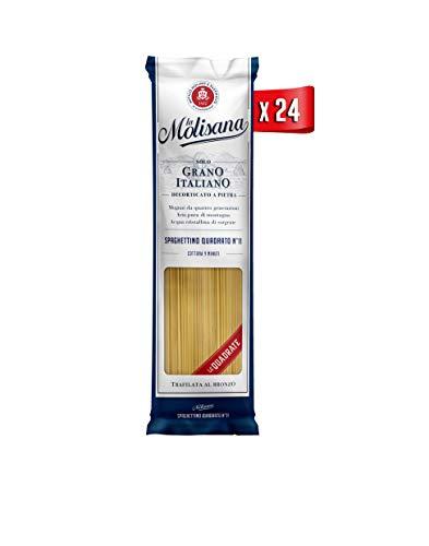 La Molisana, Spaghettino Quadrato n.11 Pasta Lunga, SOLO Grano Italiano - 24 confezioni da 500g (tot...