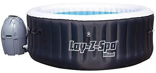 Jordanoshop 54123 Bestway Lay-Z-SPA Miami - Piscina de hidromasaje Hinchable con calefacción (180 x 66 cm)