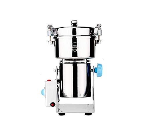 Wghz Fresadora 800 Gramos de Material Medicinal trituradora doméstica 2000w pequeña fresadora Sanqi máquina trituradora Comercial de Acero Inoxidable de Alta Velocidad portátil para el consumidor