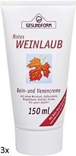 Hochwertige Bein- und Venencreme mit rotem Weinlaub, Roßkastanie, Ringelblume, Kamille und Arnika für ein gutes Gefühl in den Beinen Spar-Set 3x150ml in der Tube