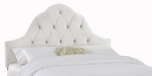 Big Sale Skyline Furniture Velvet King Tufted High Arc Headboard, White