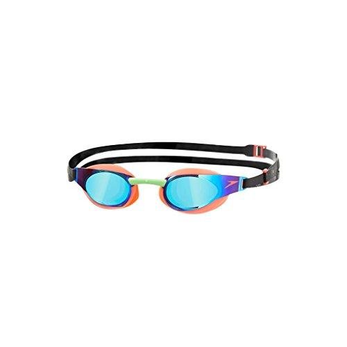 Speedo Elite Goggle Mirror - Gafas de natación unisex, color rojo /...