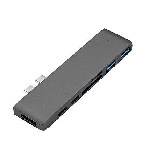 WEQQ USB 3.1 Type-C Hub To HDMI Adapter 4K Thunderbolt 3 USB C Hub with Hub gray