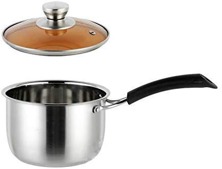 Pot Koreaanse Single Handle Soep Stoofpot Super Dikke Gepolijst Niet-Magnetische Bodem Nonstick Pan Ramen Pot Thuis Voedsel Koken Melk Pot