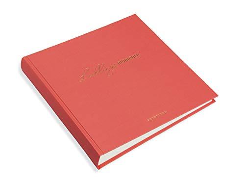 libralides Fotoalbum Wortreich Koralle, Buch für Photos, zum selbst einkleben, 30 Blatt, 60 weiße Seiten, 25x25cm, tolles Album für die schönsten Bilder