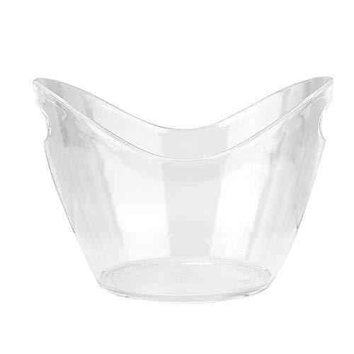Bdesign Eiskübel Plexiglas ITER Plastic Tub for Getränke und Parties, Food Grade, Hält 5 Full-Size-Flaschen und EIS