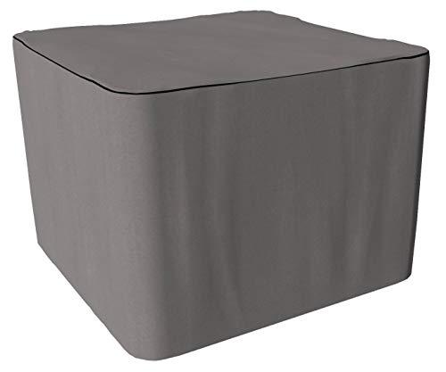 SORARA Schutzhülle gartenmöbel Abdeckung für quadratisches Tischset | Grau | 80 x 80 x 70 cm | wasserabweisend