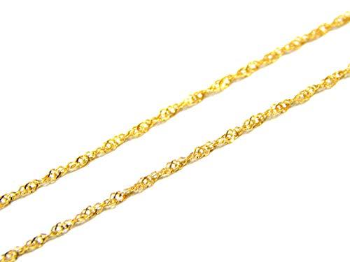 Corrente em Ouro 18k Singapura 0,65mm 40cm