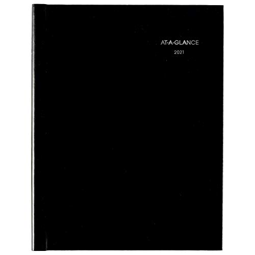 """2021 Weekly Appointment Book & Planner by AT-A-GLANCE, 8"""" x 11"""", Large, Hardcover, DayMinder, Black (G520H0021)"""