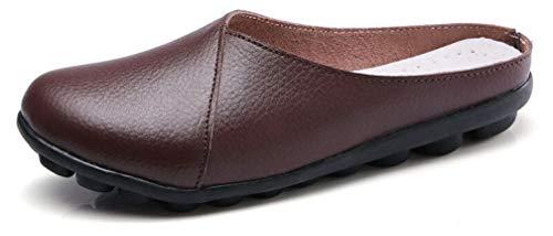 Zapatos Mujer Primavera Verano 2019 Sandalias para Mujer Mocasines de Piel Respirable Moda Loafers Casual Zapatillas Comodos Zapatos Planos