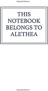 This Notebook Belongs to Alethea