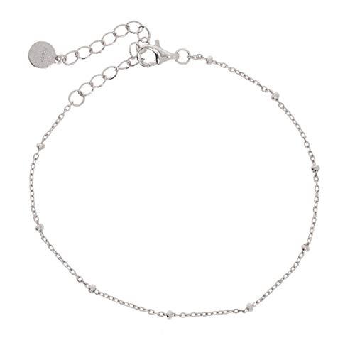 Zoeca - Armband 925 Silber - Nickelfrei - Damen Schmuck - Kette (Silber)