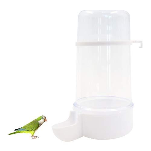Comedero para Pájaros Automático Pájaros Transparente Estación de Alimentación para Pájaros Se puede Colga Gran Capacidad Alimentador de Agua, Fácil de Instalar y Limpiar.