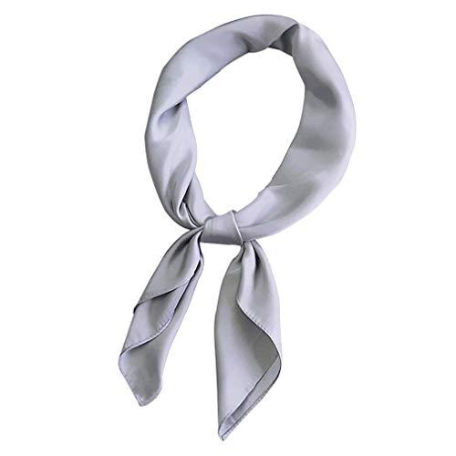 Satén de las mujeres pequeña plaza bufanda color sólido pequeño pañuelo de seda bufandas de las señoras Profesional pañuelo bufandas