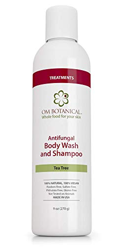 Organic Tea Tree Oil & Neem Antifungal Body Wash Soap for Men, Women | All Natural Remedy For Athletes Foot, Body Odor, ToeNail Fungus, Jock Itch, Yeast Infection, Body Acne, Eczema