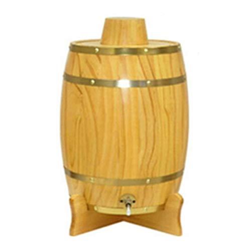 catch-L Barril Barril de Vino Bloqueado Barril de Vino Barril de Vino Blanco Cerveza Madera Maciza Decoración Aro de Cobre Decoración de Remache (Color : Yellow, Size : 20L)