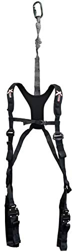 X-Stand Treestands The Freedom Ultra Light Weight Harness The Freedom Ultra Light Weight Hunting Tree Stand Adjustable Safety Harness, Black, One Size