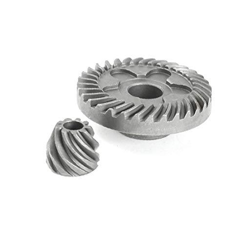 X-DREE Juego de piñones de engranajes cónicos en espiral de la pieza de reparación para la amoladora angular 6-100 de for bosch(Set di pignoni conici conici a spirale di riparazione per smerigliatrice