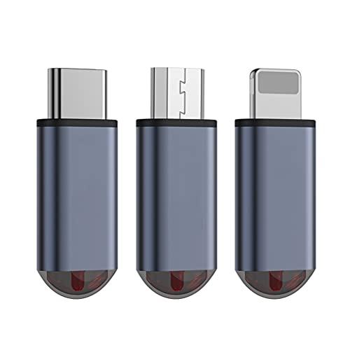 Telecomando con telecomando IR per TV Box Condizionatore d'aria, Mini adattatore per telecomando per cellulare per iPhone/Micro USB/Type-C, 1 pz (PER TYPE-C)
