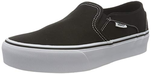 Vans Damen Asher Platform Sneaker, Schwarz ((Canvas) Black 3sy), 39 EU