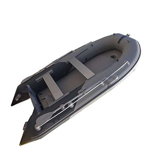 TLJF Kayak - Barco inflable inflable de PVC plegable con suelo de aire   Goma inflable para barco de goma portátil para jugar