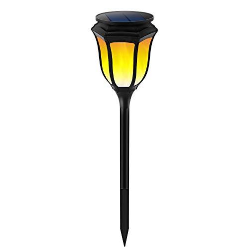 MLXLX luz solar al aire libre paisaje jardín antorcha luz llama antorcha 96led luz de calle césped jardín lámpara de pared