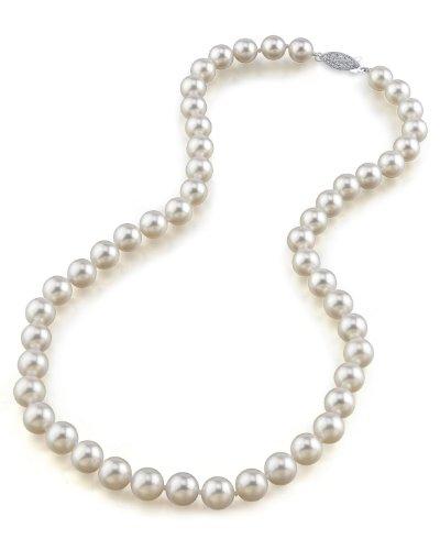 8.0–8.5mm collana di perle giapponesi Akoya–Qualità AA +