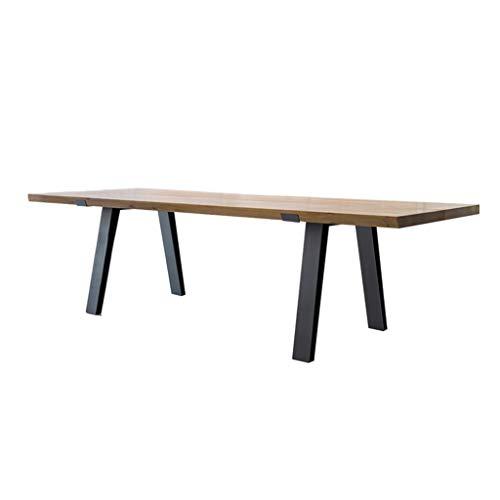 Table Einfacher Konferenztisch, Schreibtisch Für Zu Hause, Hochwertiger Eisenrahmen, Langlebig Und Nicht Leicht Zu Rosten, Computertisch Für Unternehmen, Geeignet Für Heimdekoration, Büro