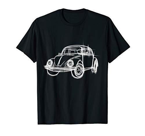 Beetle Bug Kaefer Auto Oldtimer Vintage Retro T-Shirt
