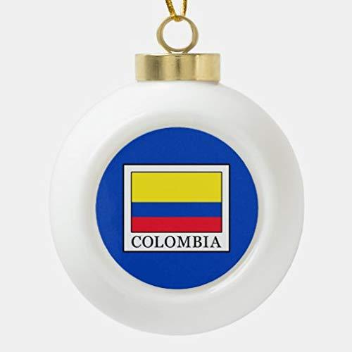 onepicebest Colombia - Bola de cerámica decorativa para árbol de Navidad, bolas de Navidad