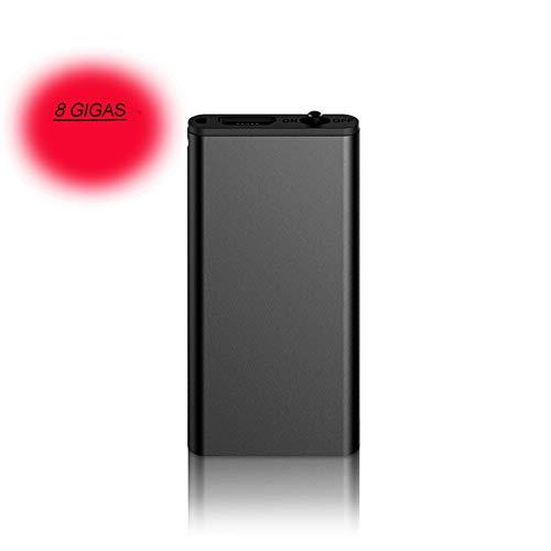 Grabadora de voz espía mini y reproductor mp3. Micrófono espía portátil, recargable por puerto USB y activación por voz de alta calidad (8)