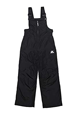 ZeroXposur Boys Snow Pants, Skiing and Snowboarding Boys Snow Bibs Overall (Black, M-10/12)