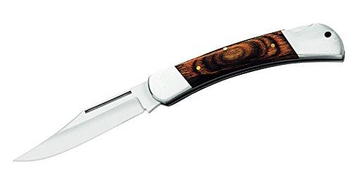 Herbertz Taschenmesser, Heftlänge 12 cm, Stahl 420, Pakkaholz, mattierte Edelstahlbacken