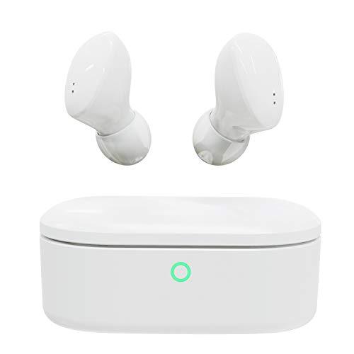 NYZ - Auriculares inalámbricos con Bluetooth 5.0, Sonido estéreo 3D con micrófono (Space 2, Blanco)