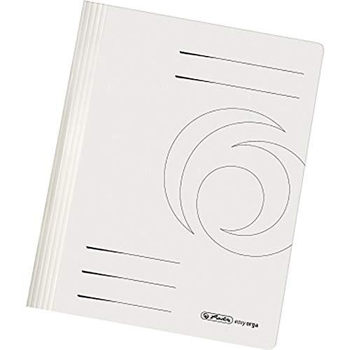 Herlitz 10902450 Schnellhefter, DIN A4, PP-Folie Weiß