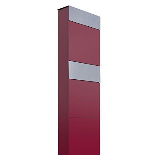 Briefkastenanlage, Design Briefkasten The Box for Two Rot/Edelstahl - Bravios