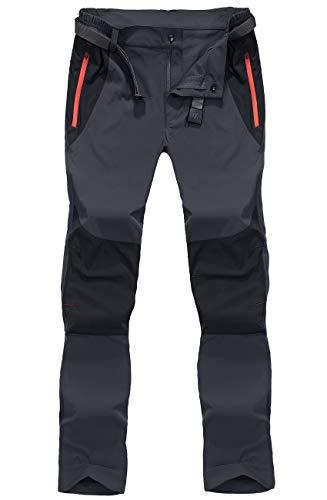 BIYLACLESEN Quick Dry Pants Men Lightweight Pants Men Dry Pants Work Pants Hiking Pants Men Climbing Pants Thin Summer Pants with Zipper Pockets Dark Grey