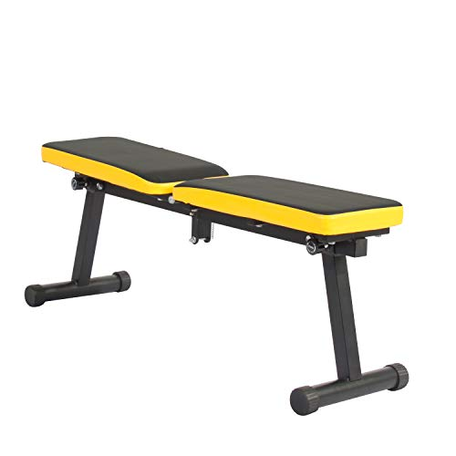 sogesfurniture Folding Dumbbell Bench Height Adjustable Incline Exercise Bench 660 lbs Weight Capacity, Multi-Functional Home Gym Strength Training Fitness Workout Station,BHCA-PSBB003