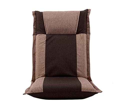 Lazy Couch Tatami Bean Bag Fabric Sofa Bedroom Bay Window Single Adjustable Chair 44×44×65cm (Color : A)