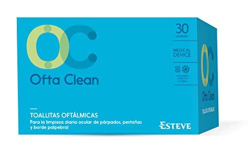 OFTA CLEAN 30 toallitas. Toallita tamaño XL para limpieza ocular diaria.Tres propiedades: Limpiadoras, Antimicrobianas y Emoliente. Acción Dual, se puede usar caliente o fria.