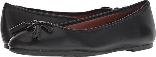 COACH Bea Leather Flat Black 7.5