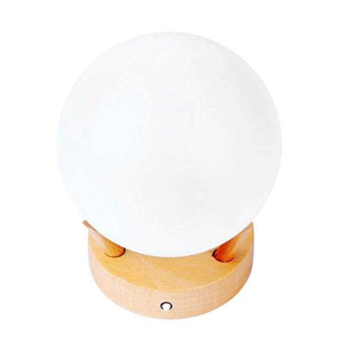 FLAMEER Lámpara de Noche de Cristal Recargable Adorable Global Ball Lámpara de Noche Decoración de Dormitorio