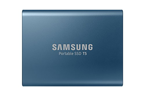 Samsung T5 500GB Up to 540MB/s USB 3.1 Gen 2 (10Gbps, Type-C) External Solid State Drive (Portable SSD) Alluring Blue (MU-PA500B)