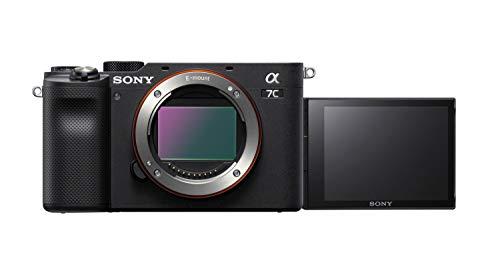 Sony Alpha 7C Spiegellose E-Mount Vollformat-Digitalkamera ILCE-7C (24,2 MP, 7,5cm (3 Zoll) Touch-Display, Echtzeit-AF, 5-Achsen Bildstabilisierung) Nur Body - Schwarz