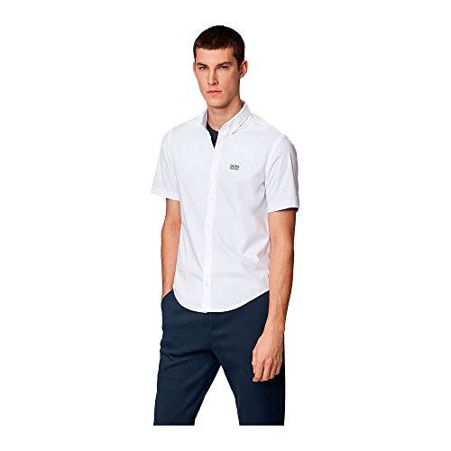 BOSS Herren BIADIA_R Freizeithemd, Weiß (White 100), XXX-Large (Herstellergröße: XXXL)